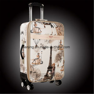 Canvas Suitcase Trolley Case 20′′/22′′/24′′/26′′ Caster Password Luggage Suitcase pictures & photos