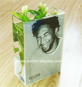 Clear Acrylic Square Organic Glass Vase Insert with Photo pictures & photos