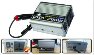 Doxin 12/24V 220V 200W Modified Sine Wave Inverter with USB pictures & photos