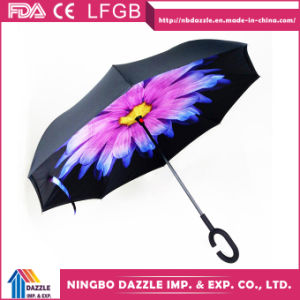 Magic Windproof C Handle Double Layer Inverted Umbrella pictures & photos