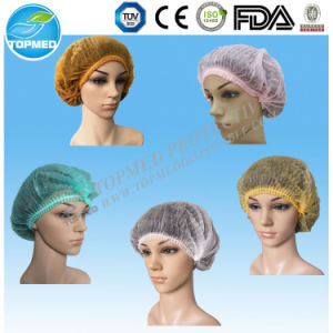 Nonwoven Disposable Bouffant Cap, Surgical Clip Cap, Mob Clip Cap pictures & photos