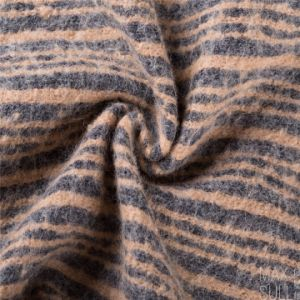 Jacquard Weave, Wool/Polyester Fabric for Winter Coat pictures & photos