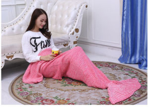 Mermaid Tail Blanket Crochet and Mermaid Blanket for Girl pictures & photos