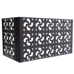 Outside Aluminum Protective Cover Punching Carved Air-Conditioning Enclosures