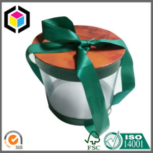 Fancy Round Shape Christmas Paper Gift Box Cardboard with Lid pictures & photos