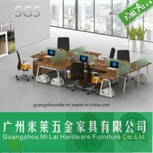 Popular Wholesale Office Furniture Computer Desk with Steel Frame Table Leg pictures & photos