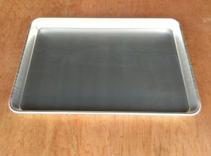 Non-Stick Bakery Bread Baking Flat Aluminium Pan, Teflon Coated Stainless Steel Burger Oven Tray pictures & photos