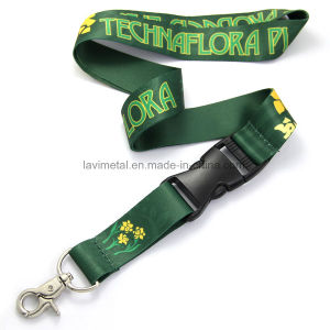 Custom Printing Polyester Nylon Lanyard with Plastic Buckle pictures & photos