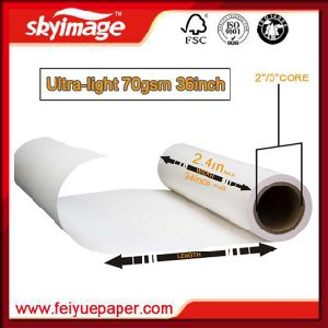 Fu 70GSM 910mm Anti-Curl Fast Dry Heat Transfer Jumbo Roll Paper pictures & photos