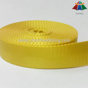 25 mm Yellow Herringbone Nylon Webbing pictures & photos