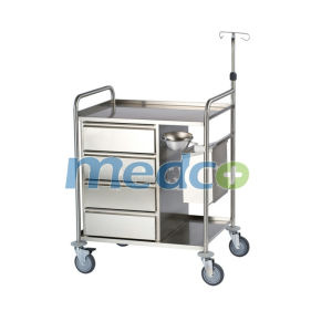 Medical Stainless Steel Treatment Cart Hospital Emergency Trolley pictures & photos