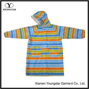 Ys-6206 Toddler Girl Colorful Hooded Long Raincoat Women′s Rain Slicker pictures & photos