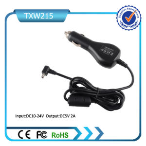 5V 2.1A Car Charger with Spring Cable Micro Plug for Samsung iPhone pictures & photos