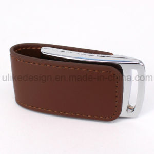 Leather Style USB Flash Disk/ Flash Drive (UL-L005) pictures & photos