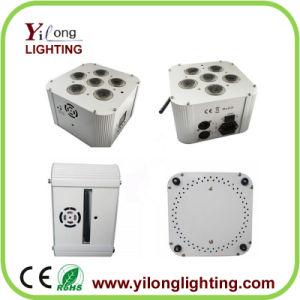 DMX Wireless Uplight 6PCS Rgabwuv 6in1 LED PAR Light Battery