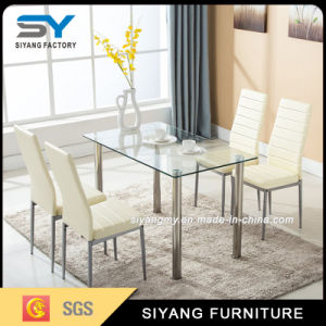 Modern Foshan Dining Room Furniture Glass Dining Table pictures & photos