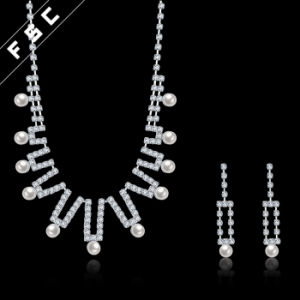 Romantic Imitation Pearl Wedding Jewelry Set in Crystal for Women pictures & photos