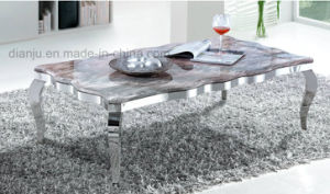 Stainless Steel Square Simple White Silvery Home Furniture Sofa Table (CT8113L) pictures & photos