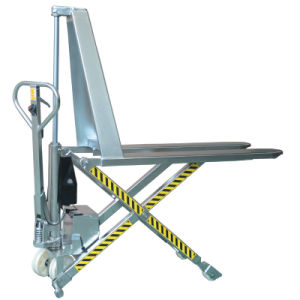 Stainless Steel Electric Hydraulic Scissor Pallet Truck pictures & photos