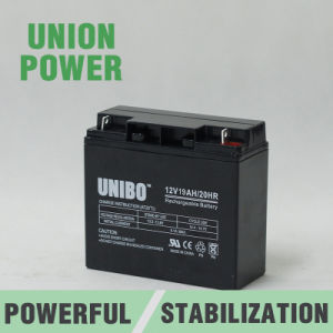Solar Battery 12V19ah High Quality Solar System AGM Lead Acid Battery pictures & photos