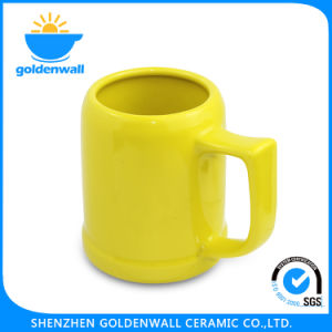 450ml Yellow Porcelain Personalize Beer Mug pictures & photos