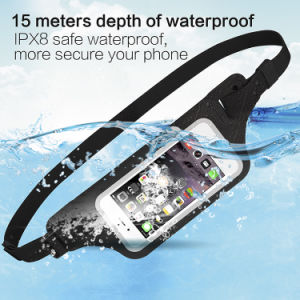 Waterproof Reflective Fanny Pack Waist Belt Bag Support Fingerprint Scan pictures & photos