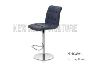 Popular Sexy Swivel Stainless Steel Leg Leather Bar Chair (NK-DCA039-1)