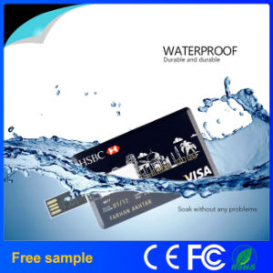 Custom Logo Printing Mini Credit Card USB Flash Drive pictures & photos