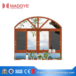High Quality Veranda Three Track Sliding Window with Mesh pictures & photos