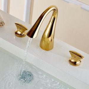 Contemporary Concise Bathroom Faucet Mixer Dual Holder pictures & photos
