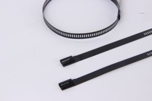 Multi Barb Lock Plastic Coated Stainless Steel Cable Zip Tie pictures & photos
