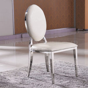 Antique Stainless Steel Dining Chair, PU Leather Antique Dining Chair pictures & photos