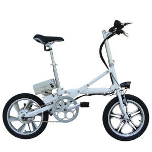 16 Inch Aluminum Alloy Pedal Assist E Bike Electric Bike with Pedals pictures & photos