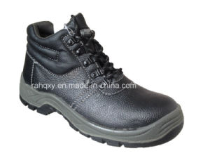 Basic Leather MID-Cut Work Shoe (HQ01006) pictures & photos