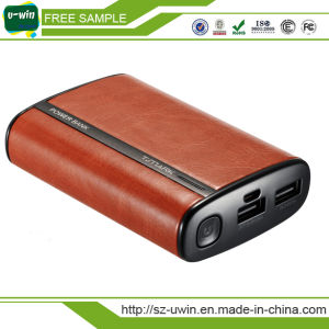 Leather 10000mAh Portable Power Bank for Smart Phone pictures & photos