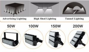 2017 Exterior LED Lamp Aluminum Angle Bracket 80W 90W 100W 150wled Tunnel Lights Ce RoHS UL Dlc pictures & photos