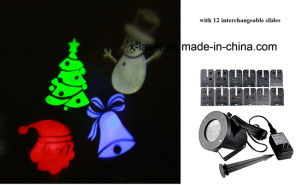 LED Project Light with 12 Interchangeable Slides for Holiday Decorations pictures & photos