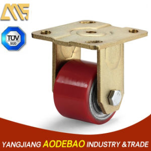 Extra Heavy Duty Low Gravity Fix PU Caster Wheel pictures & photos