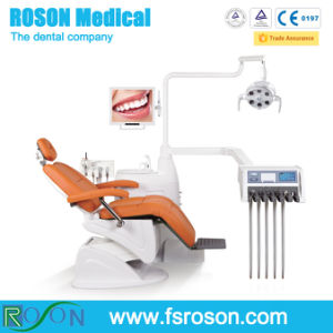 High Class Folded Dental Chair with Scaler, Curing Light