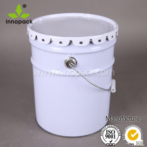 20L/5 Gallon Metal Bucket with Flower Lid and Handle for Paint or Chemical pictures & photos