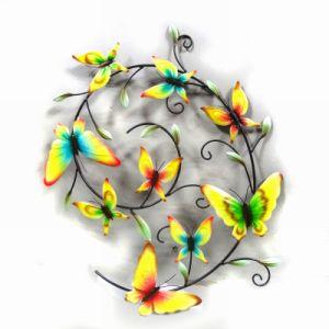 Absorbing Pastel Garden Metal Wall Art Butterflies Craft pictures & photos