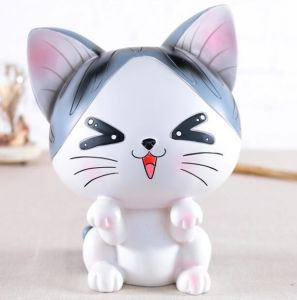 Customized Resin Cat Money Coin Saving Box for Gifts pictures & photos