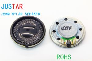 28mm 8-32ohm 0.25-2W Mylar Speaker Micro with RoHS pictures & photos