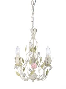 Decorative 3 Lights Ivory Finishing Foral Interior Crystal Chandelier with UL Approval pictures & photos