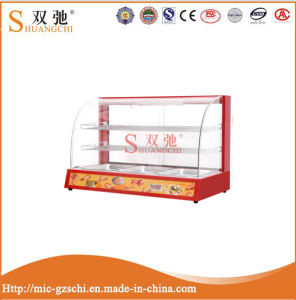 Commercial Stainless Steel Glass Food Warmer Display Showcase China Supplier pictures & photos