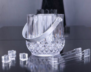 OEM Plastic Crystal Champagne Ice Bucket with Handle pictures & photos