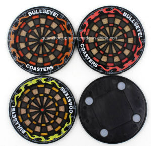 OEM Silicone Coaster Cup Mat with Dart Board Design pictures & photos