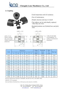Jaw Type Coupling L050 with Rubber Spider pictures & photos