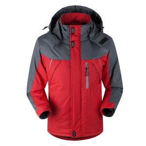 Men Softshell Waterproof Ski Jacket with Fleece Inside pictures & photos