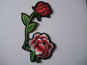 Customerized Hot Fix Flower Patch Embroidery Patch